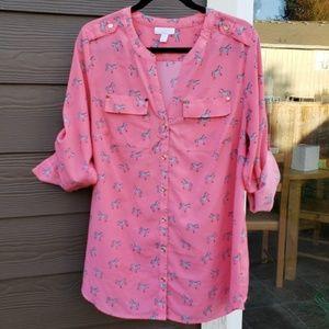EUC Pink Zebra Shirt